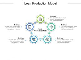 Lean Production Model Ppt Powerpoint Presentation Professional Example Cpb
