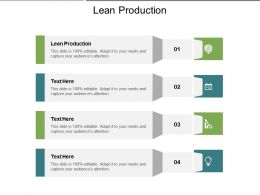 Lean Production Ppt Powerpoint Presentation Model Graphics Tutorials Cpb