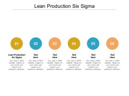 Lean Production Six Sigma Ppt Powerpoint Presentation Ideas Inspiration Cpb
