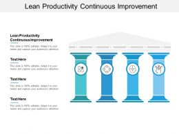 Lean Productivity Continuous Improvement Ppt Powerpoint Presentation Icon Tips Cpb
