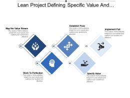 Lean Project Defining Specific Value And Establish Flow