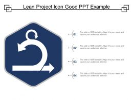 Lean Project Icon Good Ppt Example