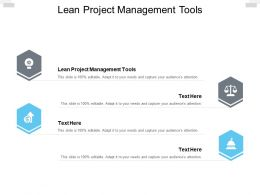 Lean Project Management Tools Ppt Powerpoint Presentation Pictures Cpb
