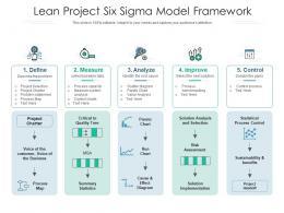 Lean Project Six Sigma Model Framework
