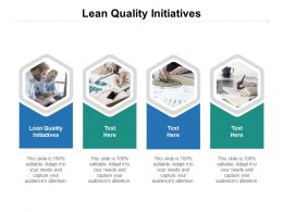 Lean Quality Initiatives Ppt Powerpoint Presentation Slides Cpb