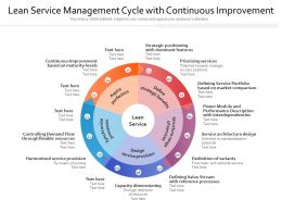 Lean Service Management Cycle With Continuous Improvement