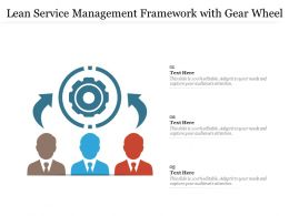 Lean Service Management Framework With Gear Wheel