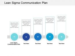 Lean Sigma Communication Plan Ppt Powerpoint Presentation Icon Guide Cpb