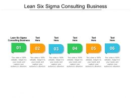 Lean Six Sigma Consulting Business Ppt Powerpoint Presentation Guidelines Cpb