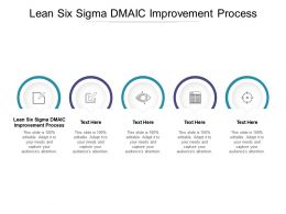 Lean Six Sigma DMAIC Improvement Process Ppt Powerpoint Presentation Professional Layouts Cpb