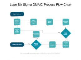 Lean Six Sigma DMAIC Process Flow Chart
