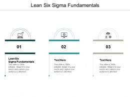 Lean Six Sigma Fundamentals Ppt Powerpoint Presentation Ideas Brochure Cpb