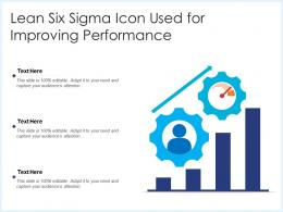 Lean Six Sigma Icon Used For Improving Performance
