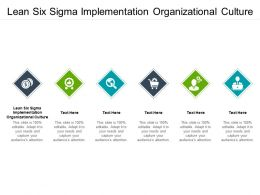 Lean Six Sigma Implementation Organizational Culture Ppt Powerpoint Presentation Slides Graphic Cpb