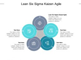 Lean Six Sigma Kaizen Agile Ppt Powerpoint Presentation Slides Grid Cpb
