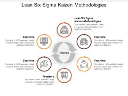 Lean Six Sigma Kaizen Methodologies Ppt Powerpoint Presentation File Graphics Download Cpb