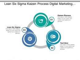 Lean Six Sigma Kaizen Process Digital Marketing Benchmarking Cpb