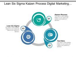 Lean Six Sigma Kaizen Process Digital Marketing Benchmarking Cpb