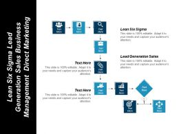 Lean Six Sigma Lead Generation Sales Business Management Direct Marketing Cpb