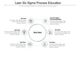 Lean Six Sigma Process Education Ppt Powerpoint Presentation Infographic Template Grid Cpb