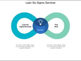 Lean Six Sigma Services Ppt Powerpoint Presentation Infographics Summary Cpb