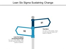 Lean Six Sigma Sustaining Change Ppt Powerpoint Presentation Infographics Example Cpb