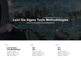 Lean Six Sigma Tools Methodologies Ppt Powerpoint Presentation Infographics Samples Cpb