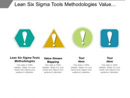 Lean Six Sigma Tools Methodologies Value Stream Mapping Cpb