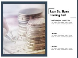 Lean Six Sigma Training Cost Ppt Powerpoint Presentation Pictures Format Ideas Cpb