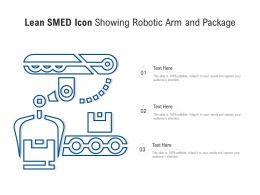 Lean SMED Icon Showing Robotic Arm And Package