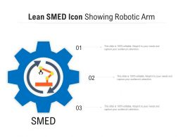 Lean SMED Icon Showing Robotic Arm