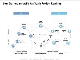 Lean Start Up And Agile Half Yearly Product Roadmap