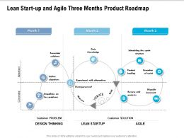 Lean Start Up And Agile Three Months Product Roadmap