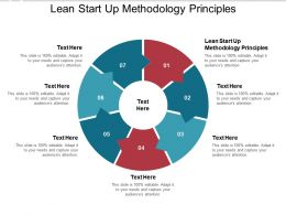 Lean Start Up Methodology Principles Ppt Powerpoint Presentation Designs Cpb