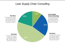 Lean Supply Chain Consulting Ppt Powerpoint Presentation Icon Example File Cpb