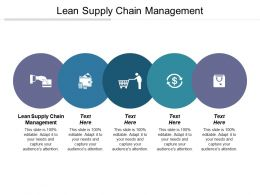 Lean Supply Chain Management Ppt Powerpoint Presentation File Outfit Cpb