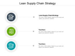 Lean Supply Chain Strategy Ppt Powerpoint Presentation Infographics Background Cpb