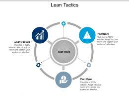 Lean Tactics Ppt Powerpoint Presentation Infographics Example File Cpb