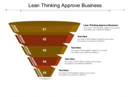 Lean Thinking Approve Business Ppt Powerpoint Presentation Infographic Template Pictures Cpb