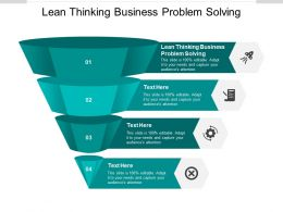 Lean Thinking Business Problem Solving Ppt Powerpoint Presentation Outfit Cpb