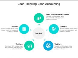 Lean Thinking Lean Accounting Ppt Powerpoint Presentation Example Cpb