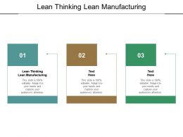 Lean Thinking Lean Manufacturing Ppt Infographic Template Slides Cpb