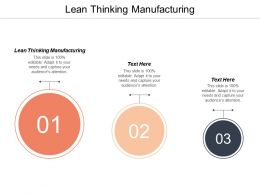 Lean Thinking Manufacturing Ppt Powerpoint Presentation Gallery Deck Cpb