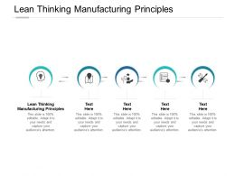 Lean Thinking Manufacturing Principles Ppt Powerpoint Presentation Shapes Cpb