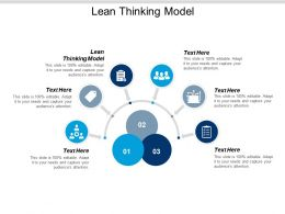 Lean Thinking Model Ppt Powerpoint Presentation Infographics Files Cpb