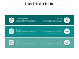 Lean Thinking Model Ppt Powerpoint Presentation Summary Deck Cpb