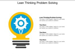 Lean Thinking Problem Solving Ppt Powerpoint Presentation Infographics Gallery Cpb