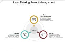 Lean Thinking Project Management Ppt Powerpoint Presentation Portfolio Guide Cpb