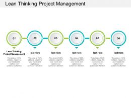 Lean Thinking Project Management Ppt Powerpoint Presentation Professional Cpb