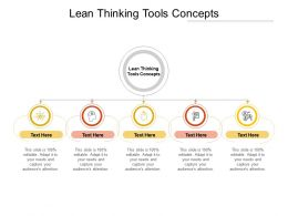 Lean Thinking Tools Concepts Ppt Powerpoint Presentation Outline Slide Cpb